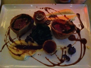 Picture doesn't do justice. My Beef Wellington was superb!